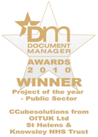 Document Manager Awards 2010 Winner